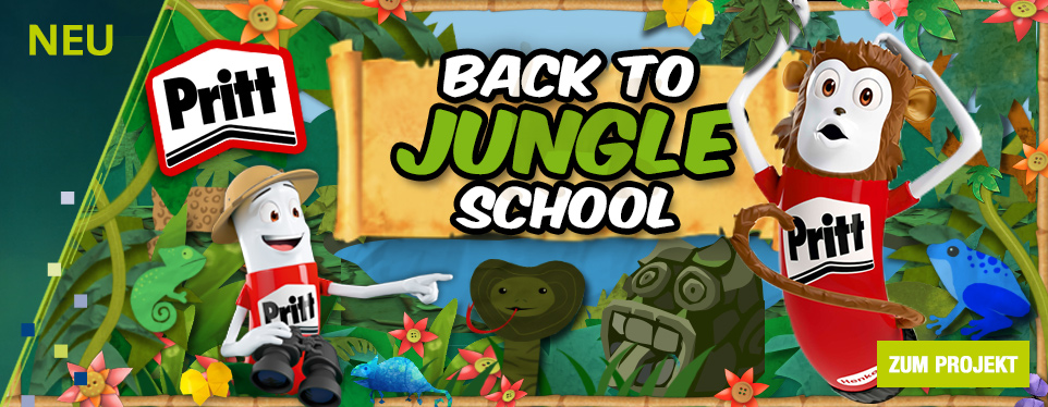 Ab in den Dschungel mit der Pritt Back to School Kampagne