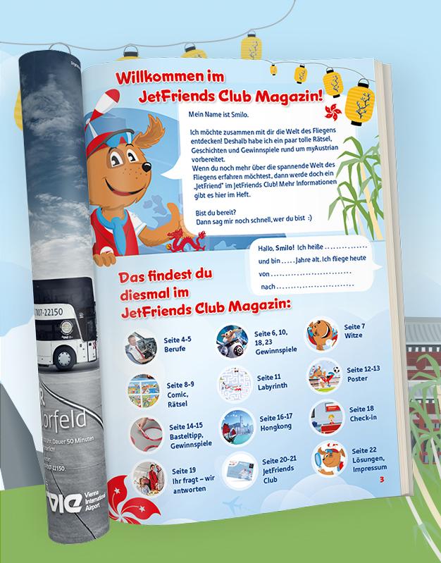 Das myAustrian JetFriends Club Bordmagazin für Kinder