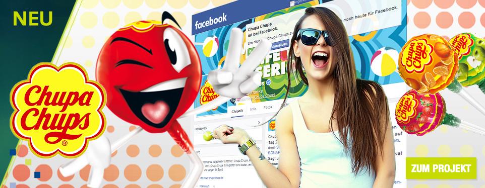 Die süße Welt von Chupa Chups jetzt auch auf Facebook entdecken!