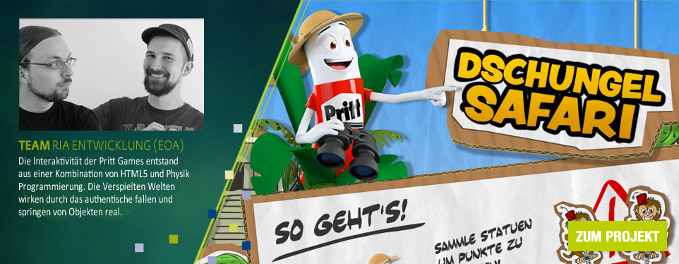 Mit Mr. Pritt auf Weltreise. EoA launcht neue Onlinegames in der Prittworld.