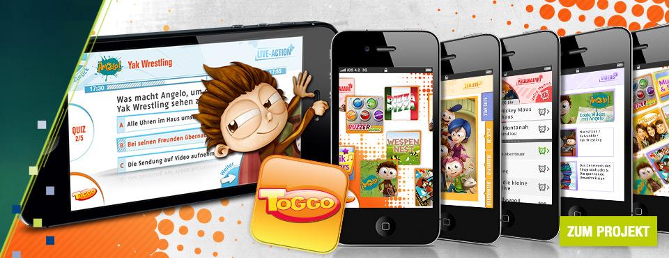TOGGO goes mobile. Deutschlands erfolgreichste Kinder-Website jetzt auch für unterwegs!