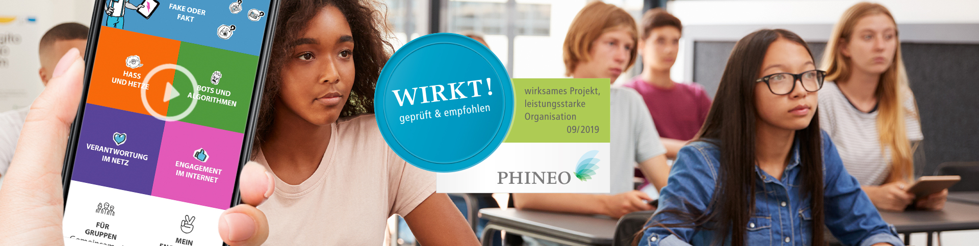 PHINEO-Wirkt-Siegel für die App Streitkultur 3.0