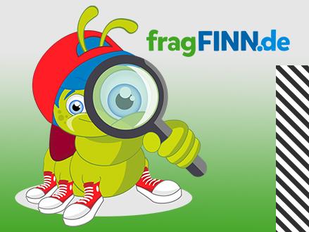 Das Maskottchen von fragFINN, eine kleine Raupe.