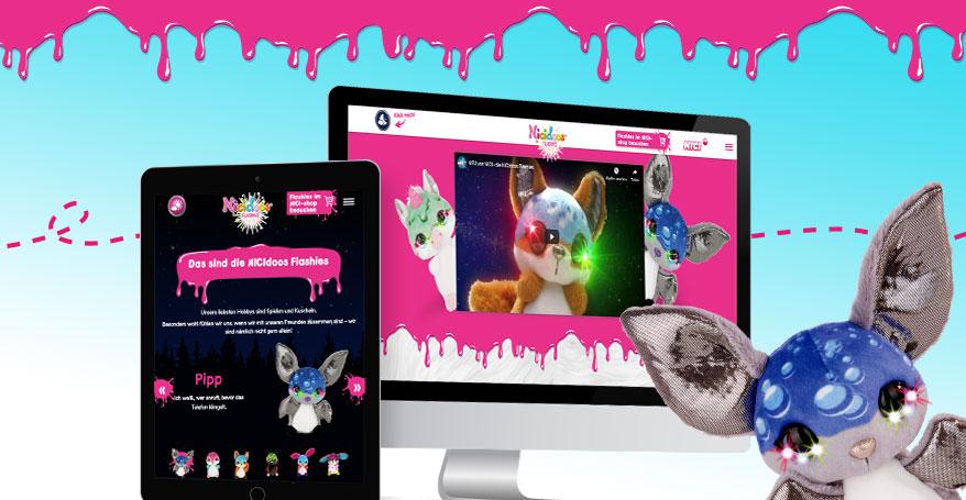 Die NICIdoos Flashies Kampagne von NICI und eoa im Internet