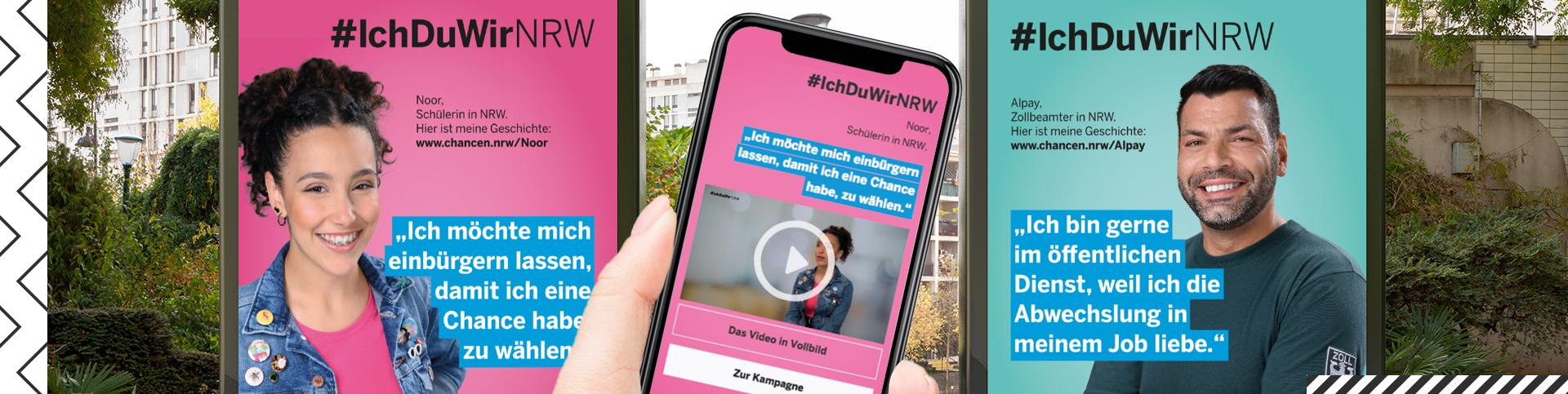 Die Kampagne #IchDuWirNRW will die Themen Einwanderung, kulturelle Vielfalt und Migration in der öffentlichen Wahrnehmung positiv besetzen