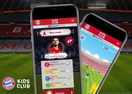 Beispielscreens der FC Bayern München Kinder-App