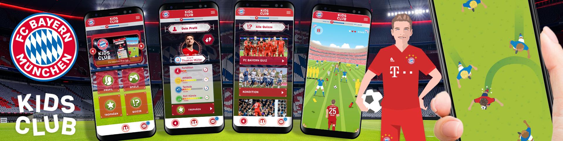 Die FC Bayern München Kids Club App von eoa